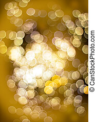 Golden bokeh light effect