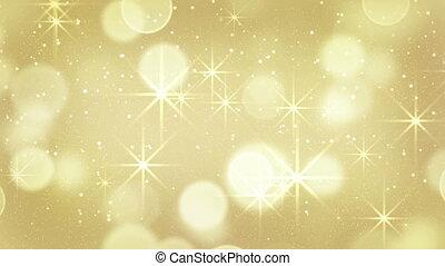 golden bokeh light loopable background