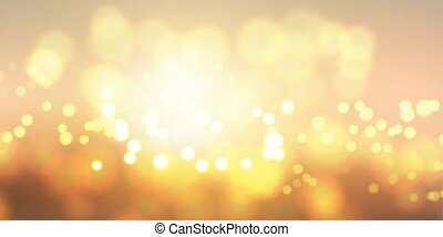 golden bokeh lights banner 0211