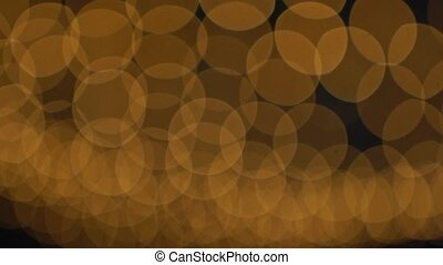 Golden Bokeh Lights Blinking Background