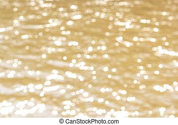 Golden Bokhe background