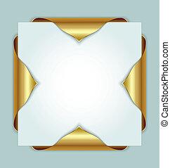 Golden bookmarks - Golden metallic bookmarks on the edges of...