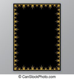 Golden border on black page template