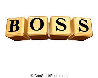 golden boss isolated