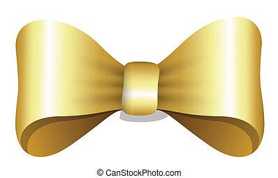 Golden Bow - Christmas Vector