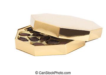 Golden Box of chocolate candies