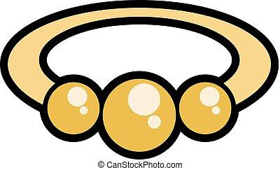 golden bracelet symbol - Creative design of golden bracelet...