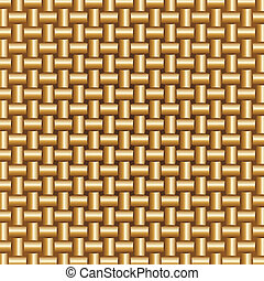 Abstract Braided Golden Colors Pattern, vector illustration.