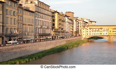 Golden Bridge across Arno river, Florence