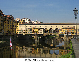 Golden bridge in Florence