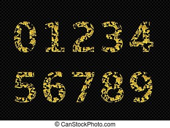 Golden broken numbers