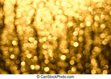 golden-brown, 抽象的, highlights., blur., ぼんやりさせられた, bokeh, 背景