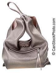 golden brown soft leather woman's bag