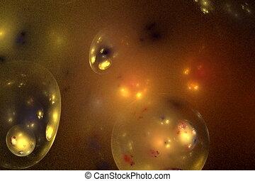 golden bubbles on black