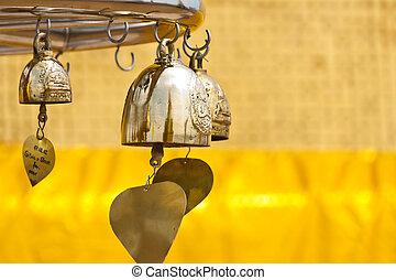 Golden Buddha bells
