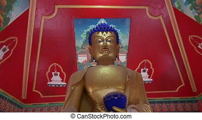golden Buddha eyes in Dharamsala