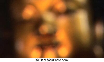 Golden Buddha Face - Golden Buddha, Jade Buddha Temple,...
