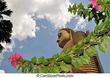 Golden Buddha of Dambulla, Sri Lanka. - Golden Buddha at the...
