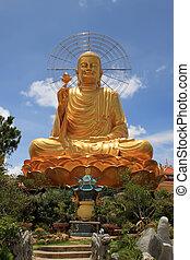 Golden Buddha - Photo of golden Buddha, Vietnam, Dalat