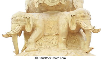 golden buddha statue emei mountain - golden buddha statue on...