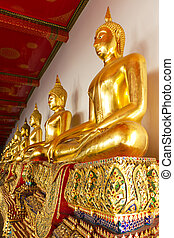Golden Buddha Statues in Bangkok