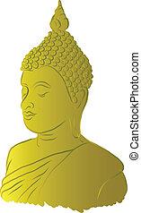 Golden Buddha Vector