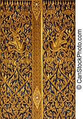 golden buddhist pattern