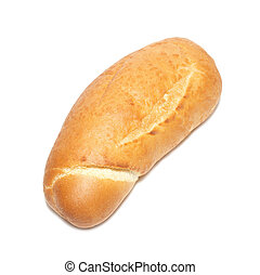 Golden bun isolated on the white background