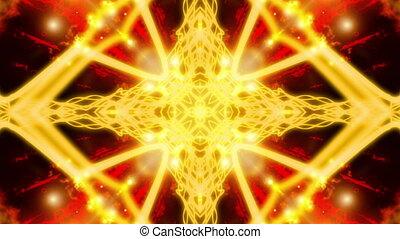 Golden Burning Vortex VJ Loop