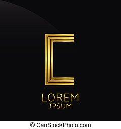Golden C Letter