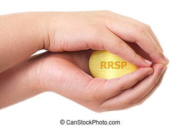 Golden Canadian retirement RRSP concept