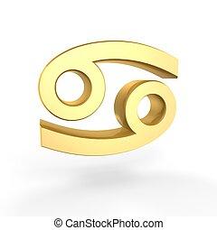 golden cancer symbol of zodiac