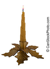 Golden candlestick