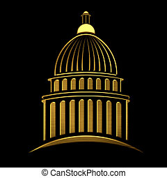 Golden Capitol building icon