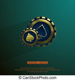 Golden casino chip