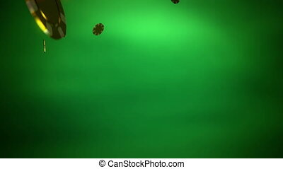 golden Casino color chips dropping slope green