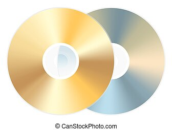 golden cd dvd disc
