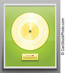 Golden CD prize with label