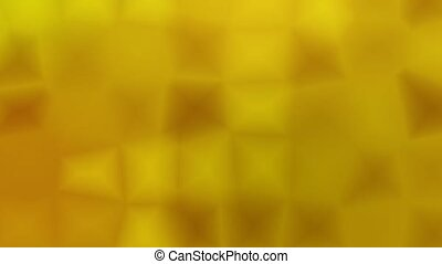 Seamless abstract motion loop featuring subtle golden yellow mosaic cells that move, glow, and change shading. Seamlessly looping and text-friendly. HD wide screen format (16:9)