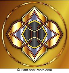 Golden Celtic Knot - Celtic knot made of gold and metals