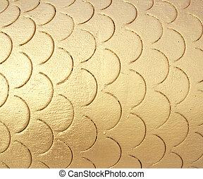 Golden cement wall