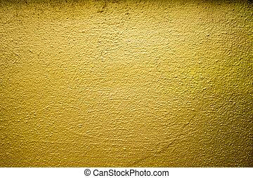 golden cement wall texture background