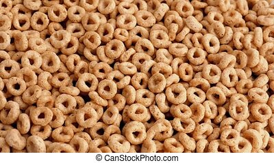 Golden Cereal Hoops Rotating