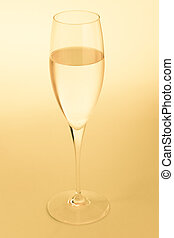 Golden champagne glass