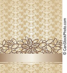 Golden champagne victorian style floral book cover.eps