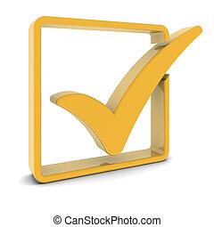 Golden Check Mark