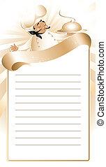 golden chef menu - Recipe and menu template