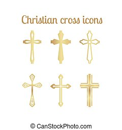Golden christian cross