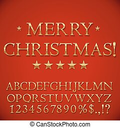 Golden Christmas Alphabet