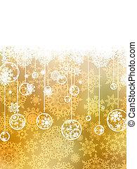 Golden christmas background. EPS 8